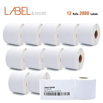 """LABEL&MORE DYMO 30323 Compatible Standard Direct Thermal Address and Shipping Labels 2-1/8"""""""