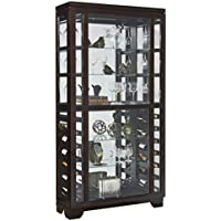 Pulaski Sliding Front Wine Curio Cabinet, Brown