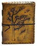 Leather Journal Travel Diary, Handmade Vintage Writing Bound Notebook For Men & Women, Antique Rustic Leather 8 x 6 - Quality Unlined Paper Perfect for Notes Sketchbook