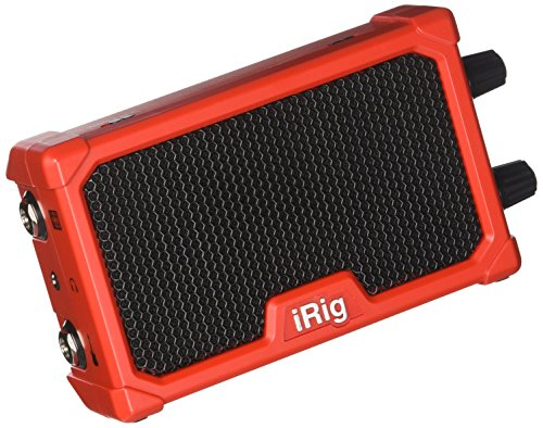 IK Multimedia iRig Nano Amp pocket guitar amplifier with integrated iRig circuit (red) ()
