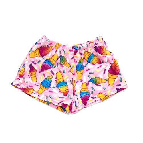 Confetti and Friends Fuzzy Plush Shorts - Pastel Cones - 10/12 ()