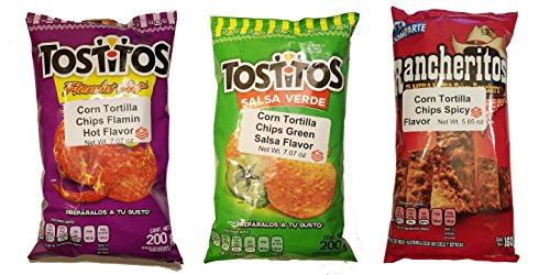 Amazon.com: Sabritas Mexican Chips Large Bag (3-pack) (Botanas Mexicanas Bolsa Grande) ((3-Pack) Picante Variety Bundle)