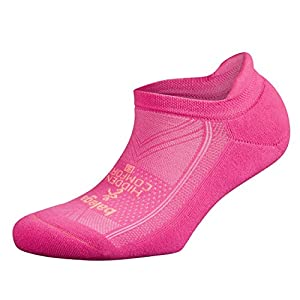 Balega Hidden Comfort Athletic No Show Running Socks for Men and Women with Seamless Toe, (Medium) - Watermelon