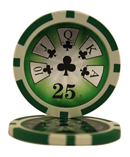 50 $25 High Roller Casino Clay Composite 14 Gram Poker Chips