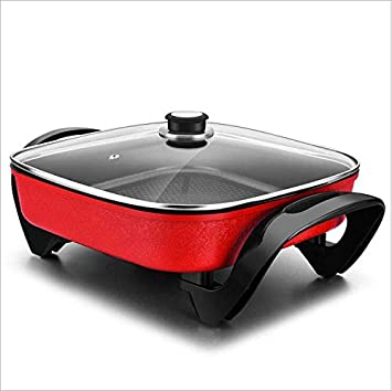 Multifuncional Coreano sin humos freidoras eléctrica olla/Pan/cacerolas/sartén antiadherente , red: Amazon.es: Hogar