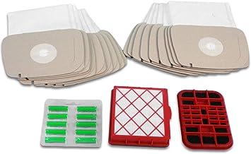 Cleanwizzard - Juego de 20 bolsas para aspiradora LUX-1, Lux-820, 1 sistema de filtro activo, 1 filtro de carbón activo, 10 desodorantes de aspiradora: Amazon.es: Hogar