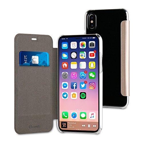 Muvit Etui Folio Case Or Pour Apple Iphone 8