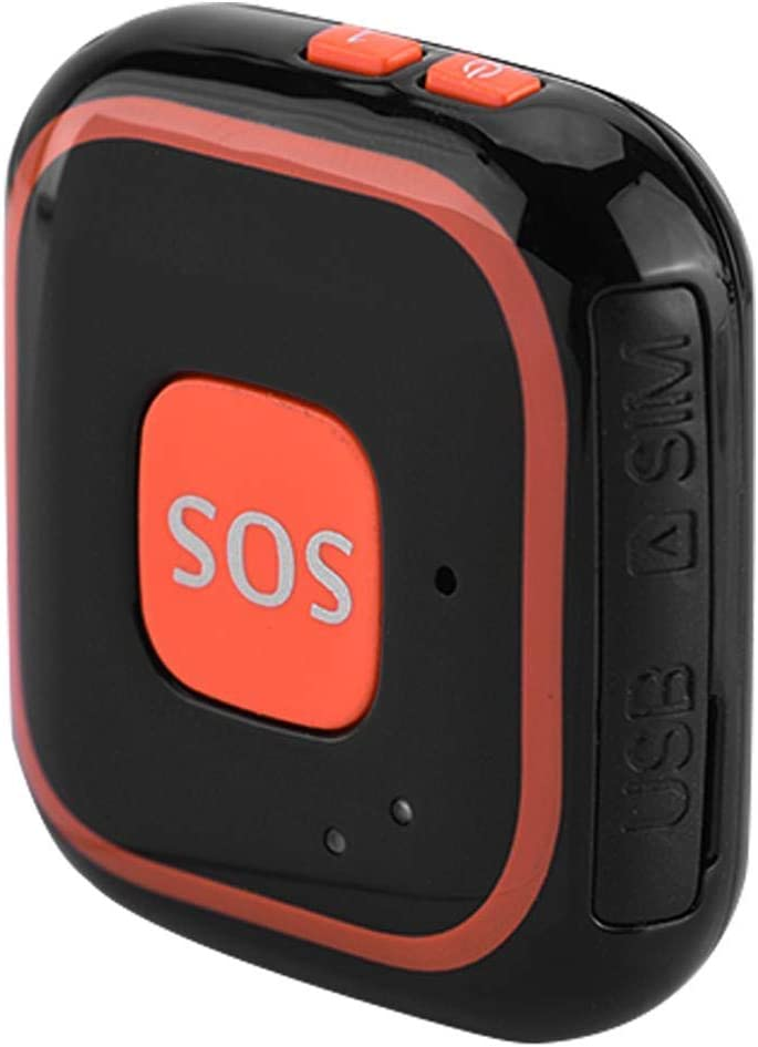 Osmewy Ultra-Thin Personal GPS Tracker SOS for Kids Child Elderly Backpack Suitcase Anti-Lost Alarm GPS Locator Tracking Device Real Time Positioning 1200mAh GT012BKNo Monthly fee