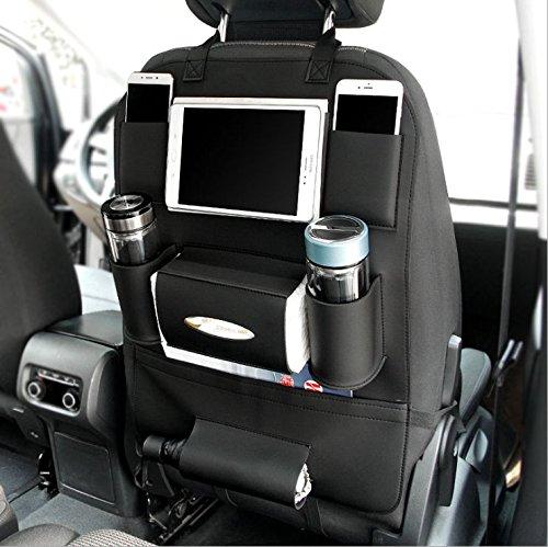 Millennium Goods Car Seat Back Organizer – Premium PU Leather by, Car Interior Accessories, Cellphone/iPad/Tissue Box/Bottles/Umbrella Holder