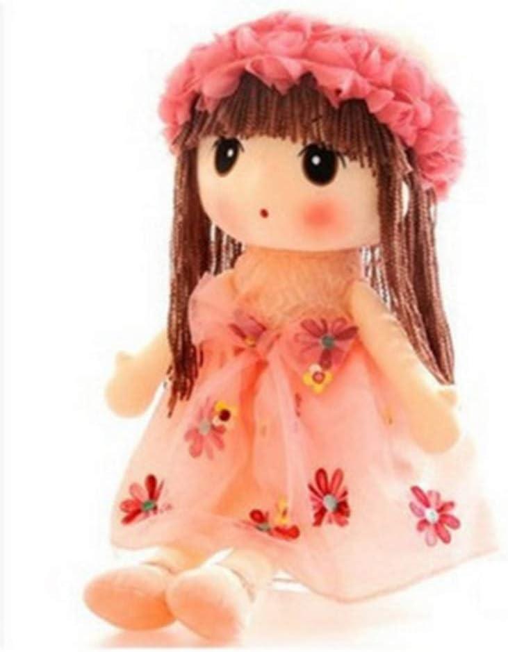 LAARNT 45 cm Peluche de peluche color rosa dise/ño de hada de flores