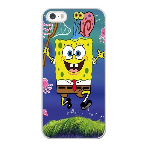 Coque,Coque iphone 5 5S SE Case Coque, Spongebob Bigpants Cover For Coque iphone 5 5S SE Cell Phone Case Cover blanc
