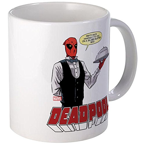 Used, CafePress Deadpool Silver Mug Unique Coffee Mug, Coffee for sale  Delivered anywhere in USA