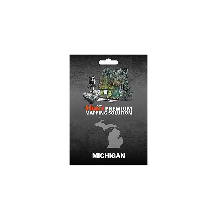 Michigan Hunting Maps: onX Hunt Chip for Garmin GPS Public & Private Land Ownership Game Management Units & Zones Includes Premium Membership for onX Hunting App for iPhone, Android & Web