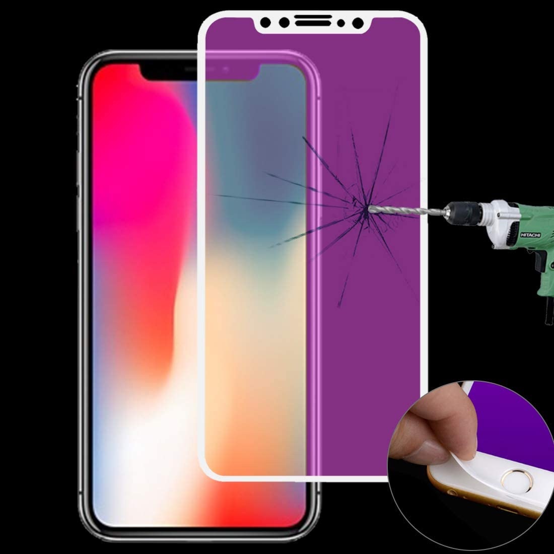 GUOHUN Screen Protector Protective 25 PCS AG Matte Anti Blue Light Full Cover Tempered Glass for iPhone XR Glass Film