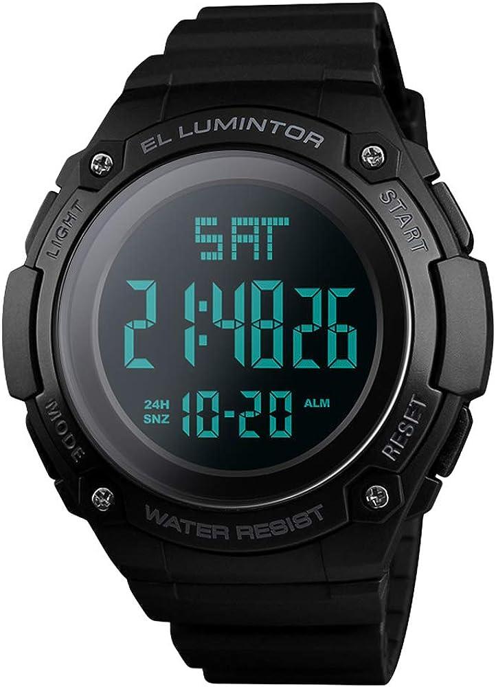 Relojes de Hombre,Reloj Deportivo Digital para Hombre, Deportivo y Militar, Reloj de Pulsera Militar, retroiluminado, LED, Informal, 50 m, Resistente al Agua, para Hombres …