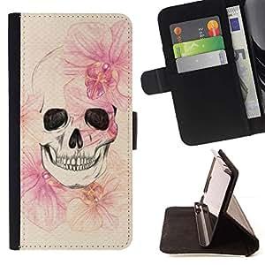 Momo Phone Case / Flip Funda de Cuero Case Cover - Muerte Primavera Significado metal Profundo - HTC One A9