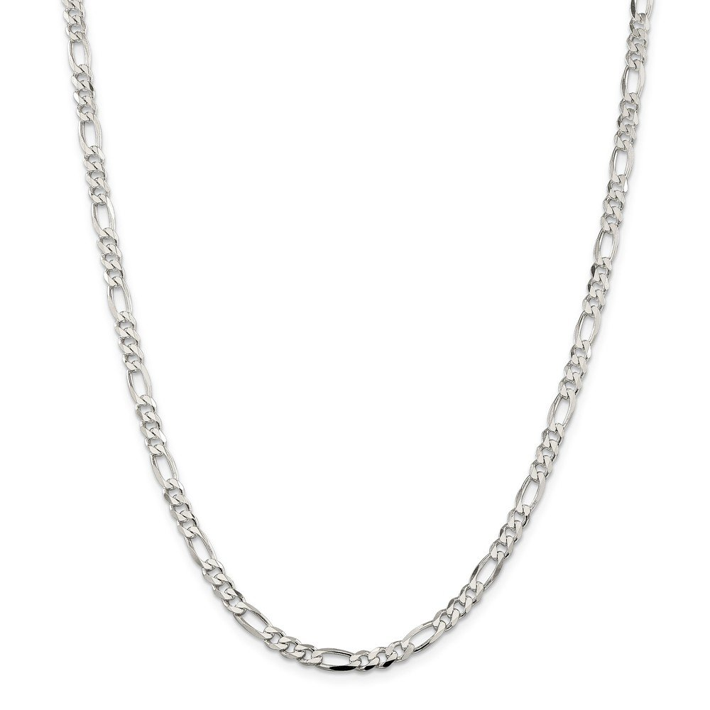 Sterling Silver 4.25mm Lobster Figaro Chain Necklace, 24''