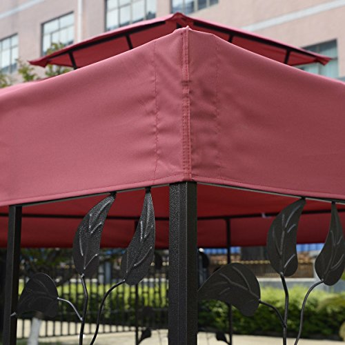 Tangkula 10 39 x 10 39 gazebo top cover patio canopy for Garage opel orleans