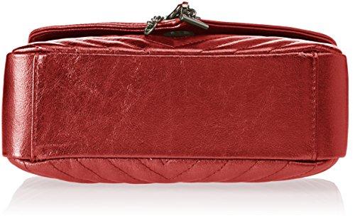 Chicca Borse 1626, Borsa a Mano Donna, 24x15x10 cm (W x H x L) Rosso