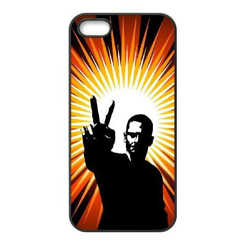 SYYCH Phone case Of Fashion Design Hand Gesture 1 Cover Case For iPhone 5,5S