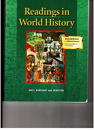 Holt World History: The Human Journey: Readings in World History Full Survey