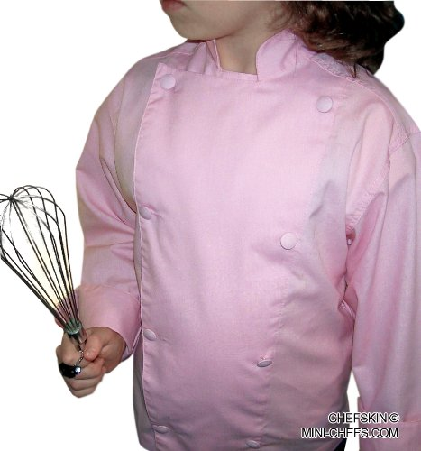 Chefskin Kids Chef Jacket Pink Just Like the Real Chefs, Ls