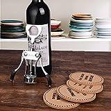 Stainless Steel Wine and Beer Bottle Opener + 4