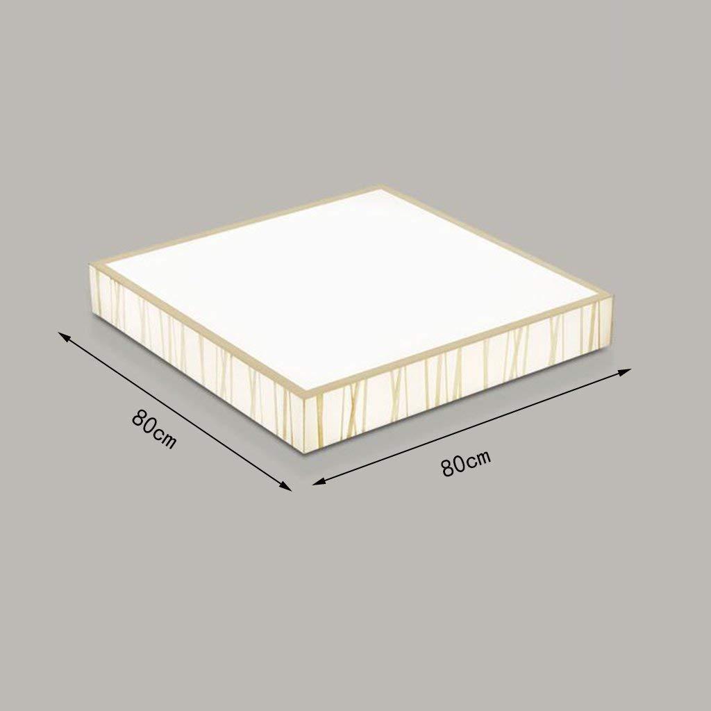Yaomeimei シーリングランプ、ホームリビングルームシーリングランプ、ベッドルームラウンジスクエアシーリングライトアイアン電球調光約束 (Color : 80*80cm, サイズ : Stepless Dimming) Stepless Dimming 80*80cm B07T9T3Q57