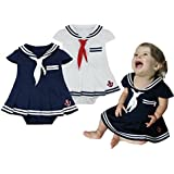 TAIYCYXGAN Baby Girls Newborn Short Sleeve Rompers Nautical Sailor Jumpsuit Bodysuit Onesie Outfit