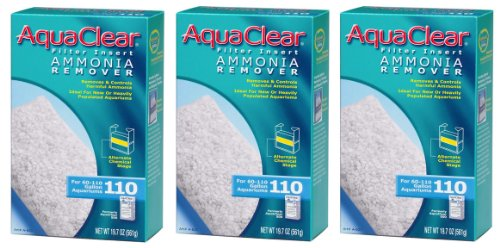 AquaClear 110 Ammonia Remover Insert - 19.7 Ounces (3-Pack)