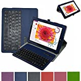 """Microsoft Surface 3 Bluetooth Keyboard Case,Mama Mouth Coustom Design Slim Stand PU Leather Case Cover With Romovable Bluetooth Keyboard For 10.8 """" Microsoft Surface 3 Tablet Windows 8.1 Tablet (Will Not Fit 12.1 Inches Surface Pro 3),Blue"""