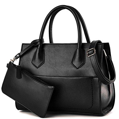B&E LIFE Stylish Women Pu Leather Top Handle