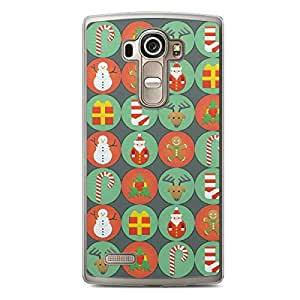 Christmas Icons LG G4 Transparent Edge Case - Christmas Collection