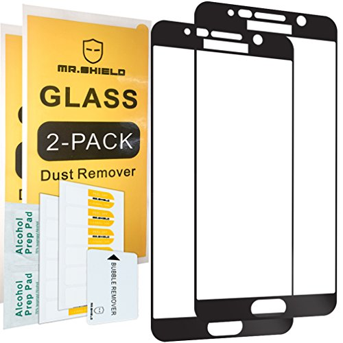 [2-PACK]-Mr Shield For Samsung Galaxy Note 5 [Full Cover] [Black] Screen Protector with Lifetime Replacement Warranty