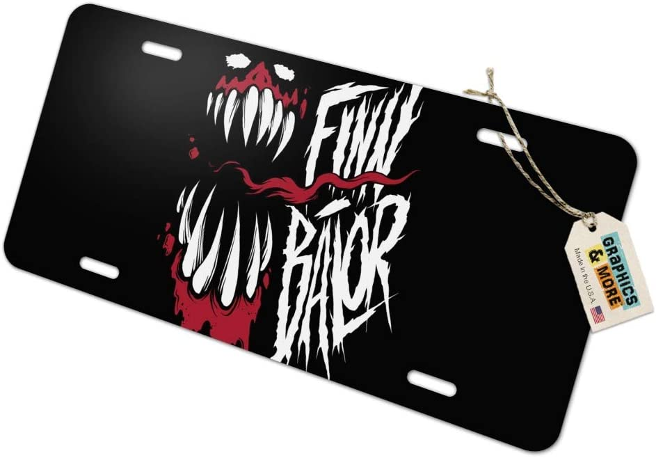 Graphics and More WWE Finn Balor Demon Unleashed Novelty Metal Vanity Tag License Plate