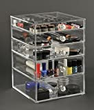 Sale! Glamourebox Clear Acrylic Makeup Organizer 5-Drawer (A5R-K)