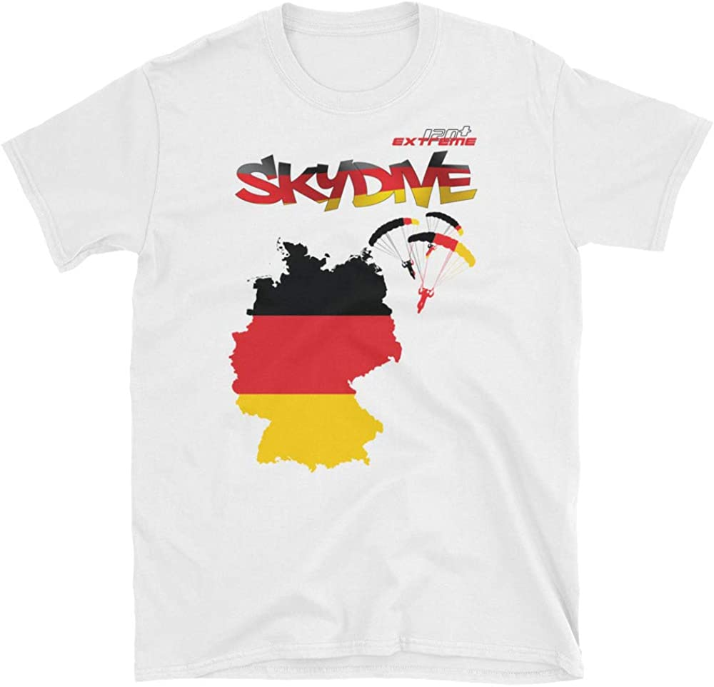 Skydive All World Short-Sleeve Unisex T-Shirt Germany eXtreme 120+ Skydiving Apparel