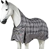Horze Avalanche 1200D Ripstop Waterproof Turnout Sheet with Wither Relief Technology Steel Grey 75""
