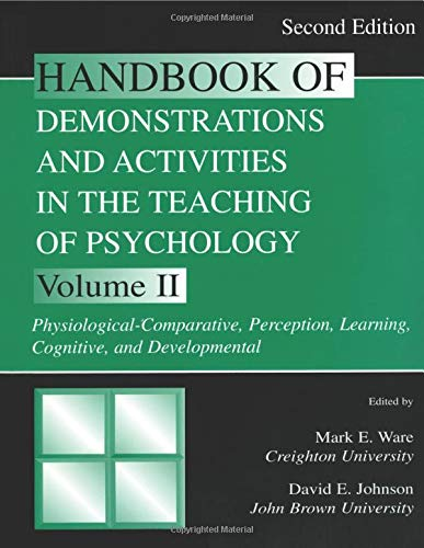 Handbook of Demonstrations and Activities in the Teaching of Psychology, Second Edition (Handbook of Demonstrations & Activities in Teaching of Psych)