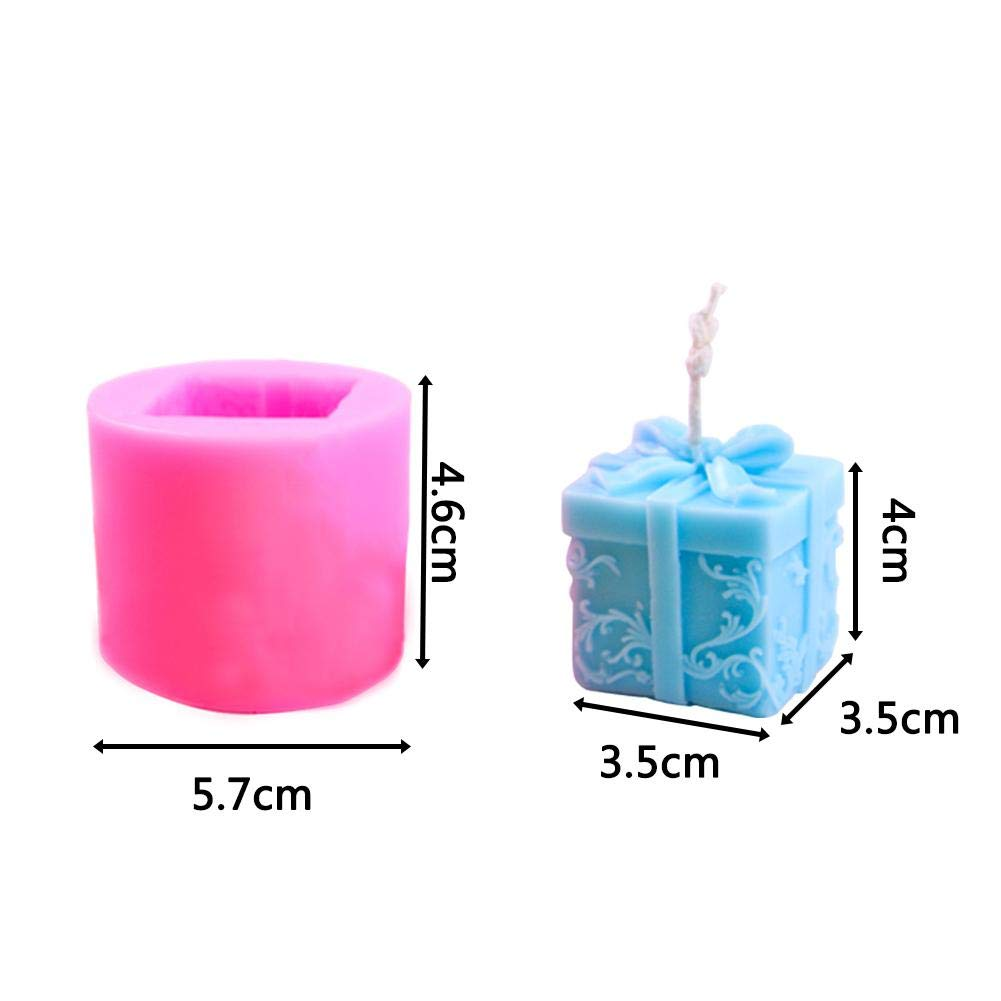 MoldFun Christmas Party Silicone Mold for Fondant IMSHI 3D Box Candle Mold Fimo Clay Chocolate Cake Decoration Soap