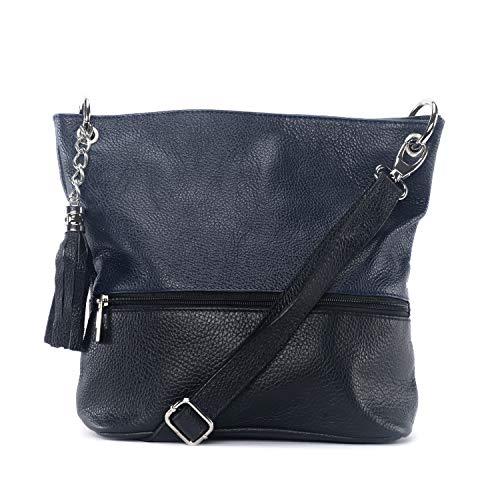 À amp;bleu Bag Main My Noir Oh En Cuir Sac 8tvZBpwx