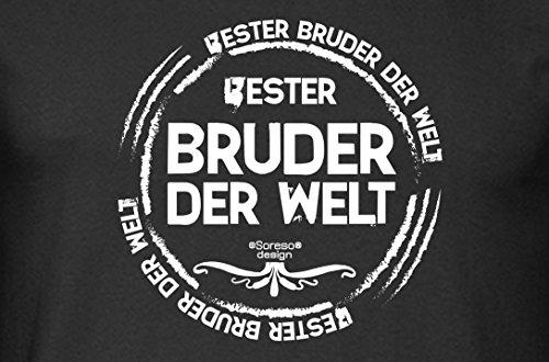 Langarm-Fun-T-shirt Top Geschenk mit GRATIS Urkunde - Bester Bruder der Welt Farbe: schwarz Gr: XXL