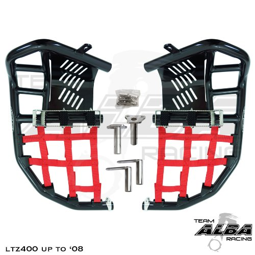 Suzuki LTZ 400 QUADSPORT Z (2004-2008) Propeg Nerf Bars Black Bars w/Red ()