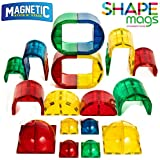 Shape Mags 30 Piece Round set 6X6 Domes 3X3 Domes Arches Tunnels & Rounded Windows With Super Strong Magnets Clear Color Magna Tiles Compatible
