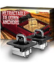 Tigeracing Tie Down Anchors Retractable Truck Bed D Ring Compatible 2019 Ram 1500 (ONLY Classic Model,NOT New) | 2019-2020 Ram 2500 3500 All Metal - 3000 LBS Capacity (of 2)