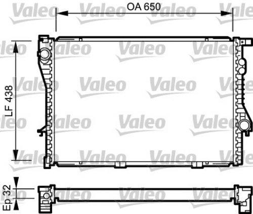 (VALEO Engine Cooling Radiator Fits BMW E39 E38 Sedan Wagon 1996-2004)