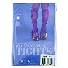 - 51KUtBeAKaL - Purple Mid-Rise Spider Webs Halloween Children's Cosplay Costume Tights