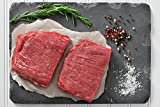 Greensbury Market - 8 (8oz) USDA Certified Organic Grass-Fed Flank Steaks - Born & Raised in USA