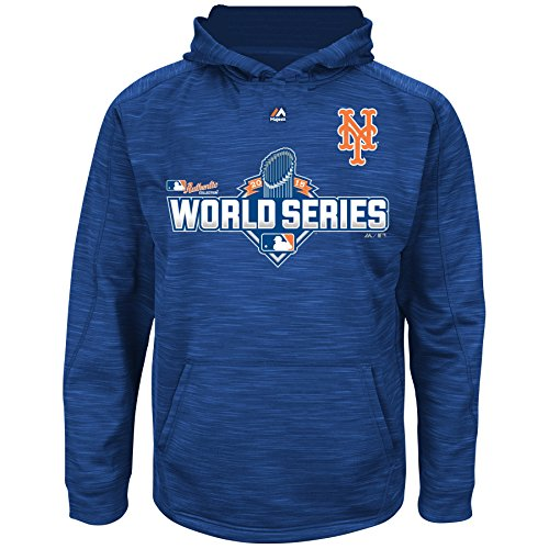 Majestic New York Mets MLB Youth 2015 World Series Streak Pullover Hooded Fleece (Youth Medium 10/12) ()