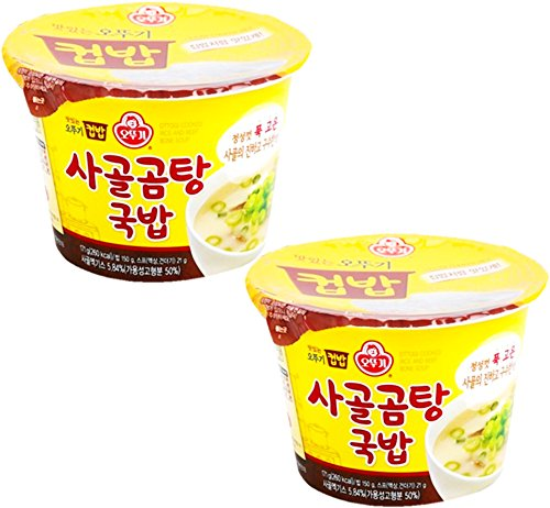 Korean Ottogi Cupbap Microwavable Rice Bowls 2 Pack (Beef Bone Soup)